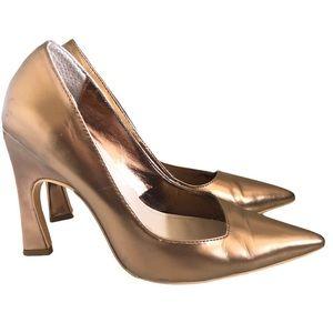 """Christian Dior Bronze Calfskin """"Defile"""" Pumps Sz 5"""